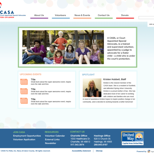 CASA website redesign